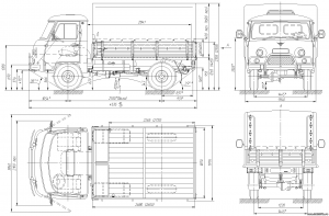 Размер УАЗ 3303