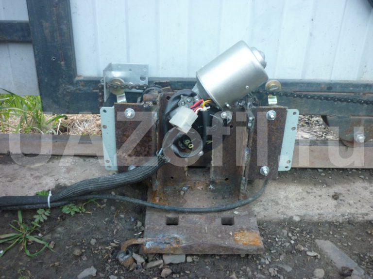 Мотор для раздвижных ворот своими руками 49